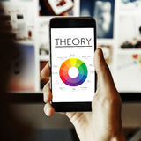Theory Graphic Chart Color Scheme Concept. Mobile Device Color Theory Concept Royalty Free Stock Photo
