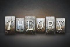 Theory Letterpress Stock Image