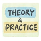 Theory and practice royalty free stock photos