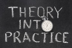 Theory into practice Royalty Free Stock Images