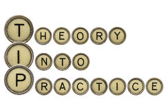 Theory into practice Royalty Free Stock Photography