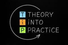 Theory Into Practice TIP Concept stock photos