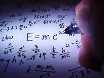 Theory of relativity. I see in dark when there is light royalty free stock photography
