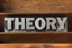 Theory word tray Royalty Free Stock Photo