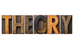 Theory word typography Royalty Free Stock Photos