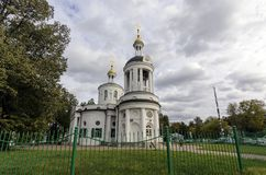 Theotokos在Kuzminki,莫斯科的Blachernitissa象的教会 库存图片