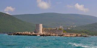 Theotokos cercou pelo mar imagens de stock royalty free