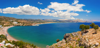 Theotokos lagoon with pure blue water. Rhodes Island Royalty Free Stock Images