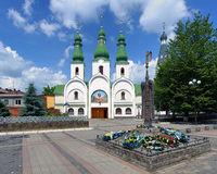 Theotokos of Pochayiv Cathedral in Mukacheve Royalty Free Stock Images