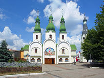 Theotokos of Pochayiv Cathedral in Mukacheve Stock Photography
