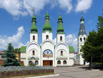 Theotokos of Pochayiv Cathedral in Mukacheve Stock Images