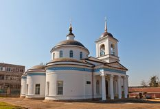 Theotokos of Vladimir church (1833). Kraskovo, Russia Royalty Free Stock Photo