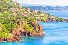 Theoule sur Mer, South of France Royalty Free Stock Photos