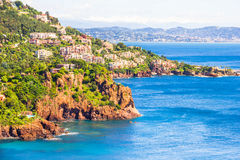 Theoule sur Mer, South of France Royalty Free Stock Images
