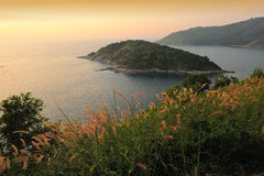 Thep Cape in Sun Set Time, Phuket Royalty Free Stock Photography