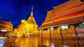 Thep Chiang Mai del su del doi del thad del pha de Wat Fotos de archivo libres de regalías