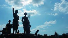Thep Kasatri & Si Sunthon Heroines Monument Time lapse stock video footage