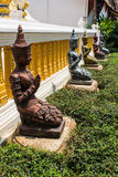 Thepha Thai temple statues Royalty Free Stock Photo