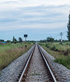 Therailway stretches endlessly Royalty Free Stock Photo