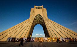 Theran Tower, Iran. The Tehran Azadi Tower, one of the symbol of the Iran capital stock images