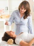 Therapeut die slinger gebruiken Royalty-vrije Stock Afbeelding