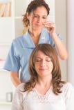 Therapeut die slinger gebruiken Royalty-vrije Stock Foto