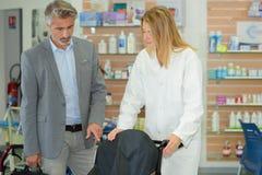 In therapeutic equipment shop Stock Photos
