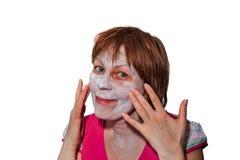 Therapeutic Face Mask according to folk prescription Stock Photography