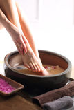 Therapeutic foot bath Royalty Free Stock Image
