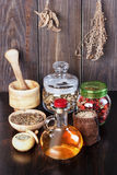 Therapeutic herbal tincture, alternative medicine, love potions, Stock Photography