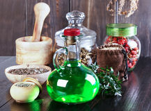 Therapeutic herbal tincture, alternative medicine, love potions, Stock Image