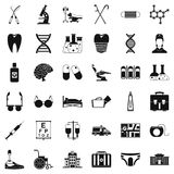 Therapeutic icons set, simple style. Therapeutic icons set. Simple set of 36 therapeutic vector icons for web isolated on white background Stock Photo