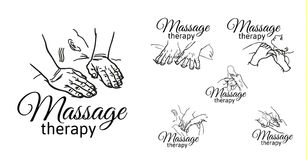 Therapeutic manual massage. Medical therapy Royalty Free Stock Photos