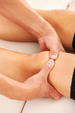 Therapeutic massage Stock Image