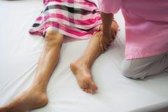 Therapeutic massage Stock Photo