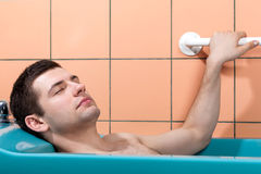 Therapeutic massage in water Royalty Free Stock Photography