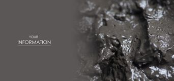 Therapeutic mud clay black macro. Pattern photo for background stock photography