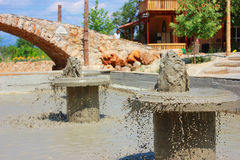 Therapeutic mud, mud pool in Antalya Stock Photography