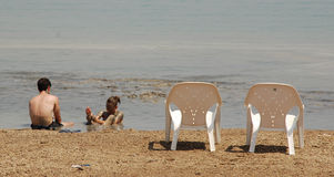 Therapeutic Muds In Dead Sea Royalty Free Stock Images