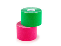 Therapeutic self adhesive tape. Stock Photo
