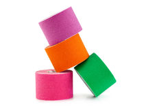 Therapeutic self adhesive tape. Royalty Free Stock Photos