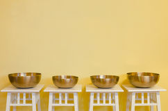 Therapeutic singing bowls Royalty Free Stock Images
