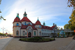 Therapeutic spa in Sopot, Poland. Spa in Sopot, located near the entrance to the molo Royalty Free Stock Photo