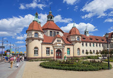 Therapeutic spa in Sopot, Poland. Spa in Sopot, located near the entrance to the molo. Photo taken on: June 17, 2012 Royalty Free Stock Photos