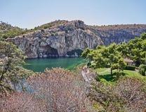 Therapeutic spa Vouliagmeni lake, Athens Greece royalty free stock photo