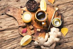 Therapeutic tea with ginger Stock Image
