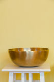 Therapeutic Tibetan singing bowl Royalty Free Stock Photography