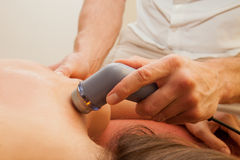 Therapeutic ultrasound Royalty Free Stock Photography