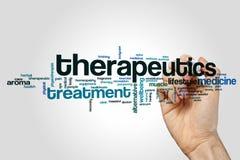 Therapeutikwortwolke stockfotos