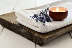 Theraphy van het lavendelaroma royalty-vrije stock afbeeldingen